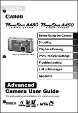 Canon Powershot A450  A460 Digital Camera User Guide Instruction  Manual