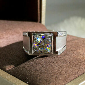 Gorgeous Engagement & Wedding Men's Ring 14K White Gold 1.63 Ct VVS1 Diamond