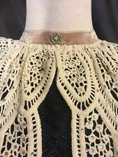 Vintage style Jabot Antique looking collar clevage cover lace lolita gothic bib