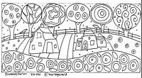 RUG HOOK CRAFT PAPER PATTERN Blooming Farm FOLK ART PRIMITIVE Karla Gerard