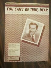 You Can't Be True, Dear Sheet Music Jerry Wayne Cover