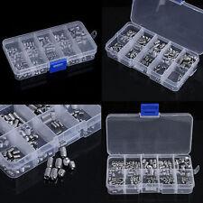 Stainless Steel M3 M8 Hex Socket Set Cap Screw Grub Screws Assortment Kit Silver
