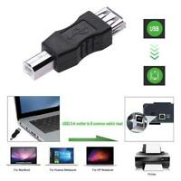 USB 2.0 A Female to B Male PC Printer Camera Lead Adapter,AF--BM Cable Connector