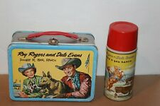 NICE 1950'S ROY ROGERS & DALE EVANS DOUBLE R BAR RANCH LUNCHBOX with THERMOS
