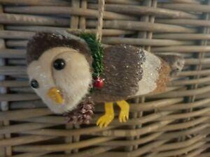 Gift Company  X Mas / Christmas Weihnachten Anhänger Eule  braun  NEU