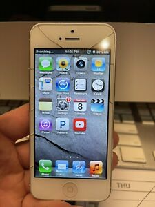 Apple iPhone 5 - 32GB - White & Silver (AT&T) A1428 (GSM) jailbroken with Cydia