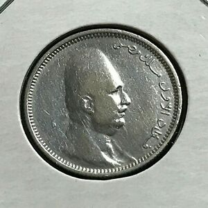 1923 EGYPT SILVER 2 PIASTRES NICE COIN