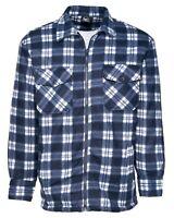 Men's Lumberjack Padded Quilted Check Warm Winter Work Shirt/Jacket Coat M-4XL