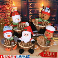Merry Christmas Candy Basket Children's Candy Box Jar Gift Xmas Ornament Home