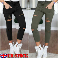 Polyester Faded Regular Size Jeans for Women