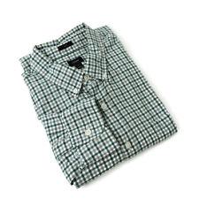 J Crew Slim Gingham shirt men's L green check long sleeve pocket cotton