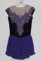Ice figure skating dress/Twirling/Tap Costume Dance Majorette leotard Custom