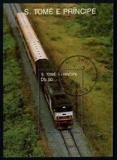 S.TOME E PRINCIPE - 1989 'PASSENGER TRAIN' Miniature Sheet CTO [A8465]