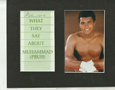 Muhammed Ali Signed with Photo FRAME SIZE 8x10 COA Pre-stroke Signature MY20