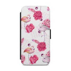 Pink Flamingo Floral Flower Pattern WALLET FLIP PHONE CASE COVER             z34