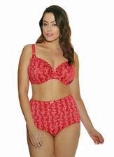 Elomi Nina Collection 40I 3X Bandless Bra Panty Set Lipstick Red