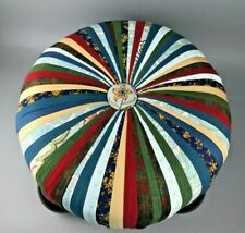 Boho Ottoman Tuffet Stool Stripe Handmade 10-12 Different Colors and Patterns
