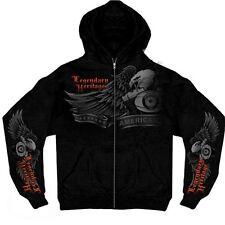 V TWIN HERITAGE - Kapuzenjacke Biker Hoodie Sweatshirt Pullover Zipper Harley