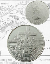CANADA COMMEMORATIVE 1 DOLLAR 1984 UNC JACQUES CARTIER LANDING
