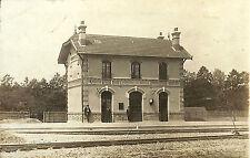 27 PERRIERS-SUR-ANDELLE CARTE POSTALE PHOTO LA GARE 1912