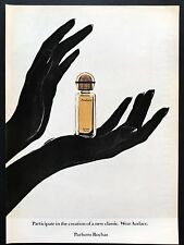 1973 Vintage Print Ad 70's PARFUM ROCHAS Perfume Glove Hand Image Silhouette