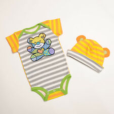 Romero Britto baby  0-6  months One Piece bodysuit and Hat by Enesco