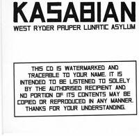 KASABIAN ~ West Ryder Pauper Lunatic Asylum ~ Rare 2009 UK 12-trk PROMO CD album