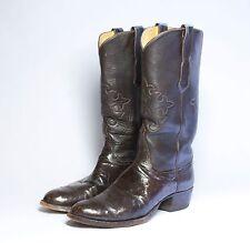 Tom Taylor Custom Men's Ostrich & Leather Cowboy Boots (size 10 B/C)