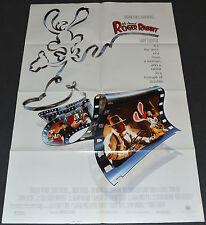 WHO FRAMED ROGER RABBIT? 1988 ORIG. 27x41 MOVIE POSTER! NEAR MINT! BOB HOSKINS!