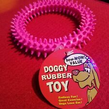 """New listing Regent Dog Chew Toy Pink Rubber 4.5"""" Ring Play Spike Exercise Gums Teeth Pet"""