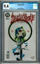 """Deathstroke #60 (1996) CGC 9.4  White Pages  Wolfman - Huddleston  """"Last Issue"""""""