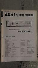 Akai aa-v105 L service manual original repair book stereo tuner receiver radio