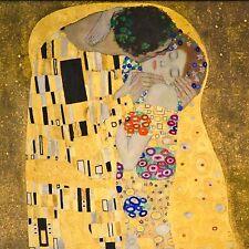 "GUSTAV KLIMT THE KISS 12x12"" Stretched Canvas Art Print"