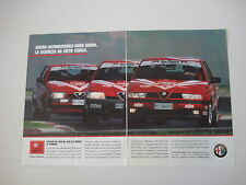advertising Pubblicità 1992 ALFA ROMEO 75 V6/164 3.0 V6/155 V6