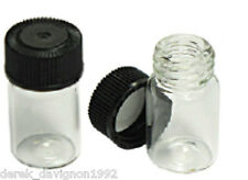 "(1) MINI 1"" GLASS VIAL BOTTLE FOR YOUR GOLD PAN GOLD!"