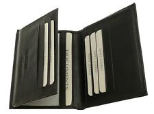 Soft Black Leather Credit Card Holder Wallet for Men 7 Slots 2 Clear Window Gift