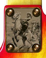 Neck Plate Neckplate Gold Fender Strat Tele P Bass J Bass Guitar Horseback