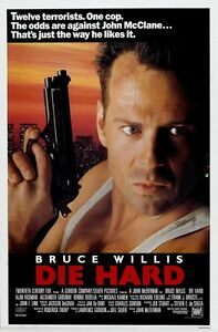 Die Hard movie poster print (b) : 11 x 17 inches : Bruce Willis poster