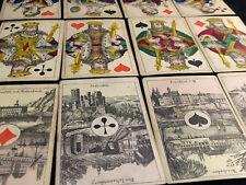 Jeu de Cartes Allemand XIX ème Siècle Antique Germany Card Game 19th