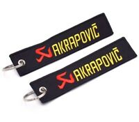 Akrapovic Keychain Motorcycle Tag Key Chain Ring Fob Moto Embroidery Keyring 1x