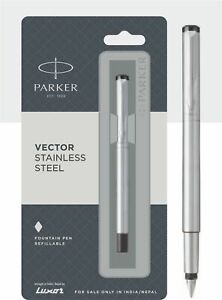 Parker Vector CT Füllfederhalter, Edelstahl Packung 1