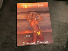 1987 California Glamour Swimsuit Calendar  (UNUSED)