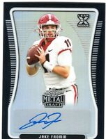 JAKE FROMM 2020 Leaf Metal Draft Autograph RC BILLS Black #2/15