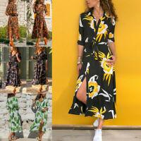 Boho Dresses Women Slit Maxi Beach Summer Party Long Dress Cocktail Sundress