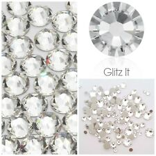 Swarovski x 100 MIXED SIZE CLEAR Crystals Rhinestones GLUE ON Nail Art Costume