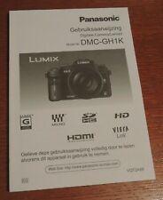 Panasonic LUMIX GH1 DMC-GH1K Gebruiksaanwijzing Paper book