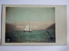 LAGO DI GARDA barca vela Brescia vecchia cartolina 4515