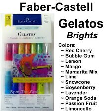Faber Castell Gelatos Mix And Match Set 12 With 3 Tools Brights 770169