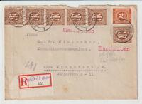 Bizone/AM-Post, Mi. 6 (6) MiF 925 Not-R-Barmstedt/Holst., 14.8.46, Öffnungsmgl.