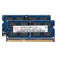 8GB (2X4GB) 2RX8 PC3-8500 DDR3 1066MHz 204pin SODIMM 1.5V Laptop Memory Module